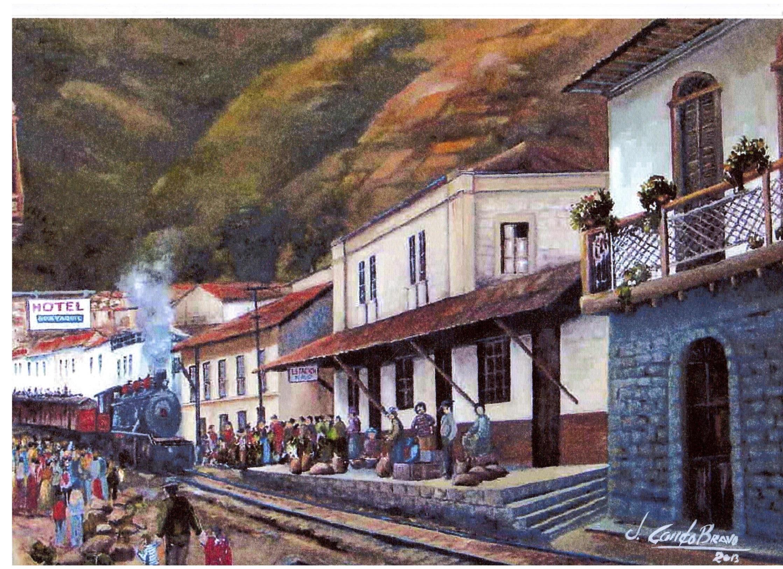 La legada del tren.  Julio Cesar Condo.  Artista plástico de Alausí